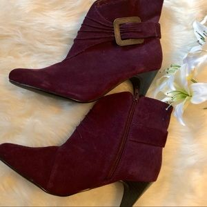 Shoes - Burgundy/Wine Booties